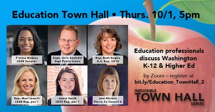 WA Education Town Hall, Thursday, 10/1, 5pm