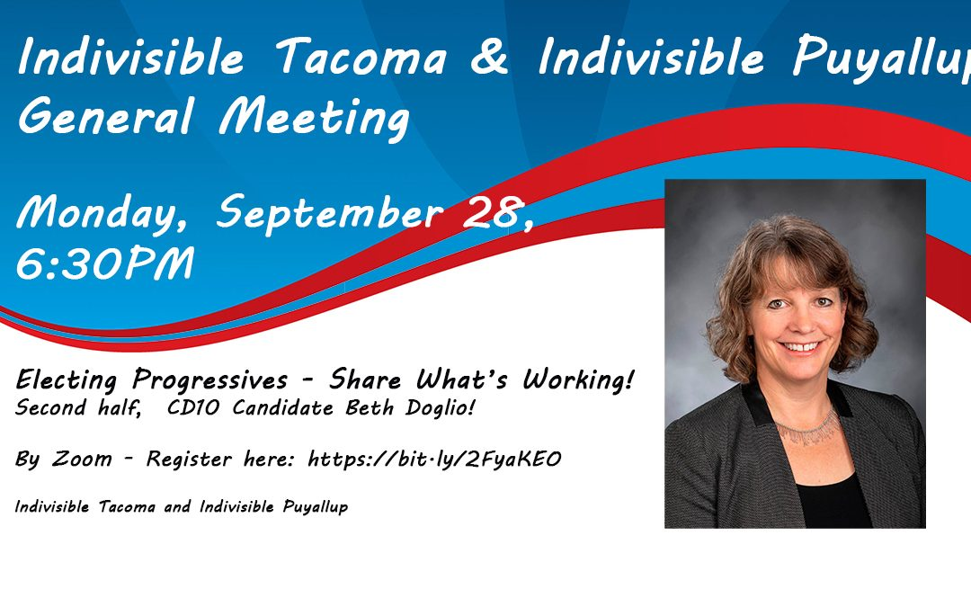 Electing Progressives – Share What's Working! Second Half – CD10 Candidate Beth Doglio