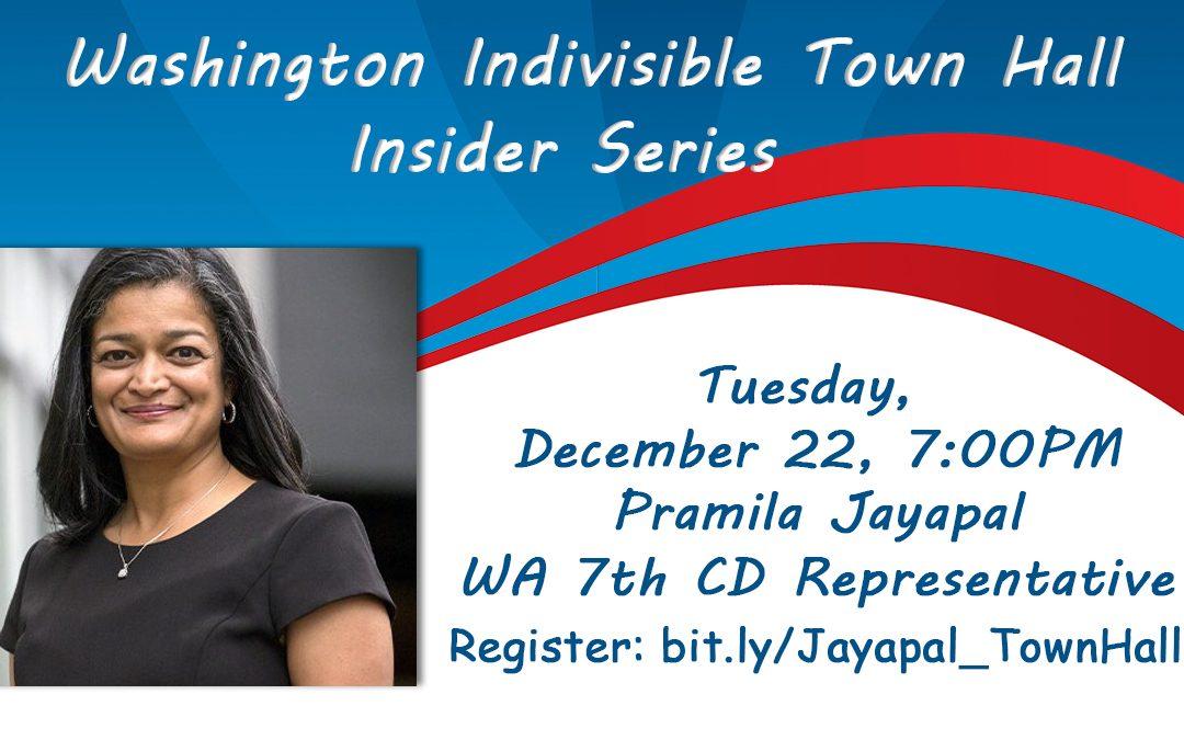 WA Indivisible Town Hall hosts Pramila Jayapal