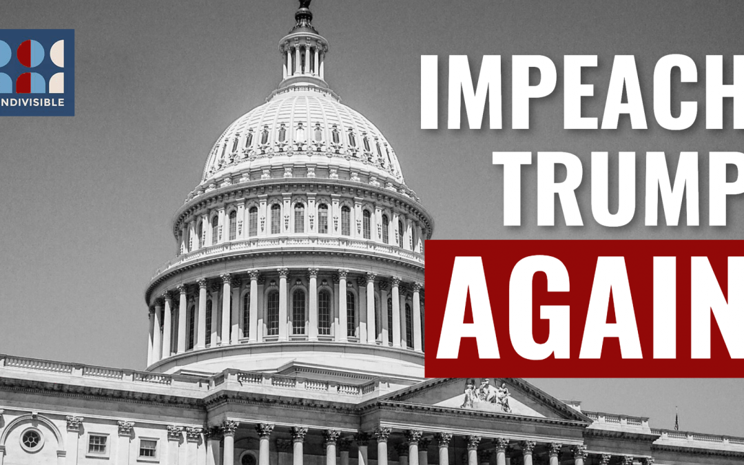 Demand that your representative support the impeachment of Donald Trump