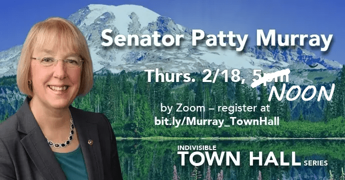 Indivisible Town Hall with Senator Patty Murray