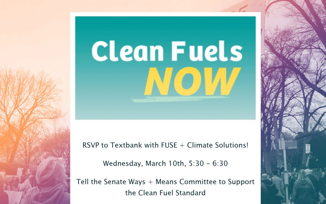 Text Banking for Clean Fuels, Wednesday, March 10th and 17th